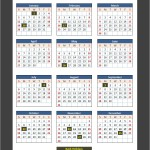 US Bank Holidays Calendar 2014