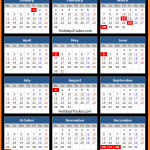 Ireland Bank Holidays Calendar 2016