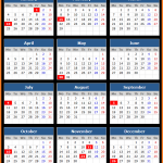 BBT Bank Holidays Calendar 2016