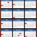 MT Bank Holidays Calendar 2016
