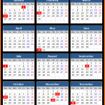 Sandy Spring Bank (US) Holidays Calendar 2016