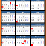 Vista Bank (US) Holidays Calendar 2016