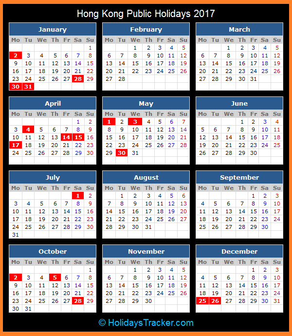 2017 / 2018 / 2019 Chinese Public Holiday Calendar, …