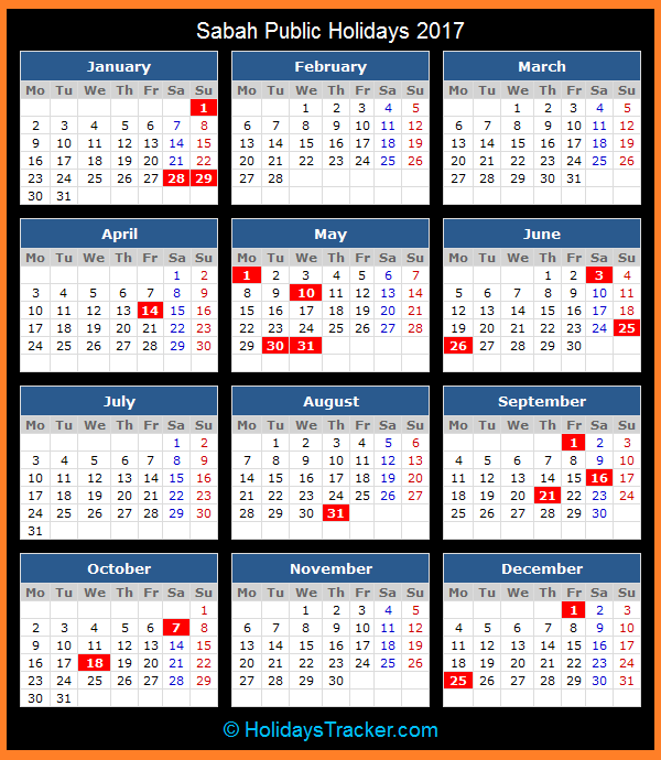 ... Holidays And State Holidays Year 2016 Malaysia | Calendar Template