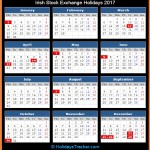 Irish Stock Exchange Calander Holidays 2017
