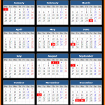 Bank of Bermuda Holidays Calendar 2018
