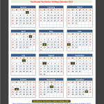 NT (Canada) Holidays Calendar 2015(Click To Enlarge)
