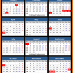 New South Wales Public Holidays Calendar 2016