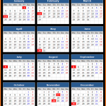 Hancock Bank (US) Holidays Calendar 2016