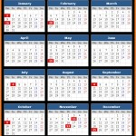 Commerce Bank Holidays Calendar 2017