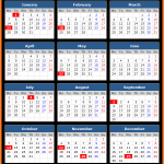 Bank of America (US) Holiday Calendar 2019