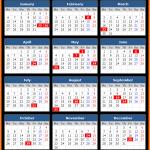 Johar Public Holidays Calendar 2020