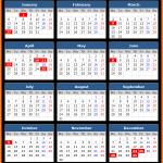 South Australia Public Holidays Calendar 2020