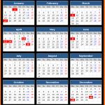 Tasmania Public Holidays Calendar 2020