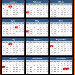 Ontario Public Holidays Calendar 2020