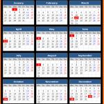 Ireland Holiday Calendar 2020