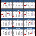 Gibraltar Holiday Calendar 2020