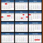 Norges Bank Holidays Calendar 2020