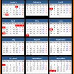 Australian Capital Territory Public Holiday Calendar 2021