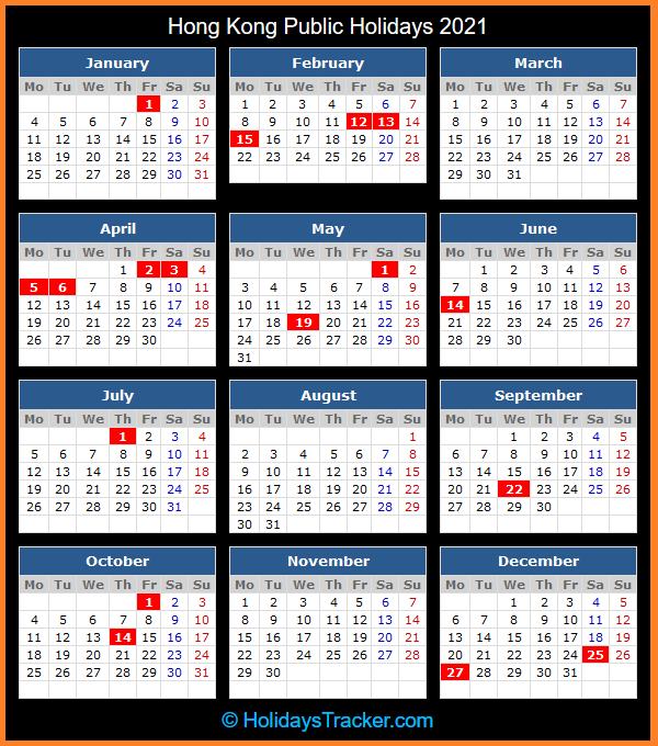Hong Kong Public Holidays 2021 Holidays Tracker