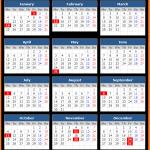 US Bank Holiday Calendar 2021