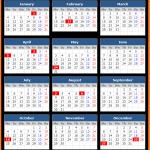 Printable Bank of Jamaica Public Holiday Calendar 2021