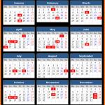 Printable Central Bank of Sri Lanka Public Calendar 2021