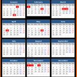 Printable Stock Exchange of Mauritius Public Holiday Calendar 2021